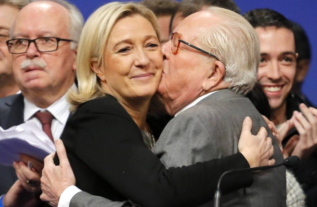 Le pen and her Father