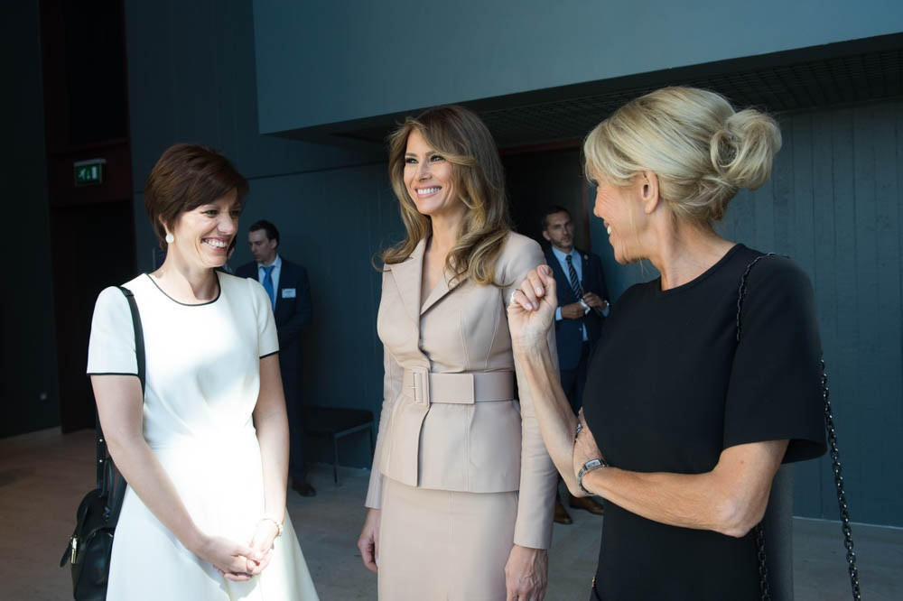 Brigitte Trogneux with First Lady of the USA