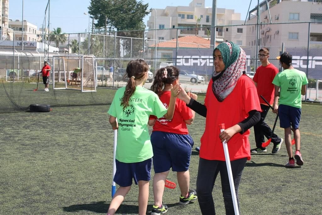 special olympics cyprus floor ball with refugees