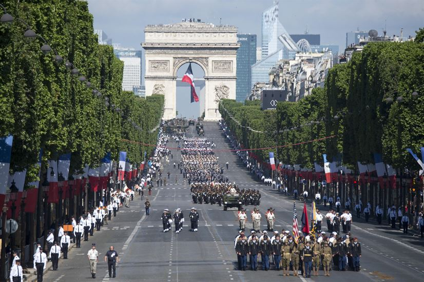 French military parade