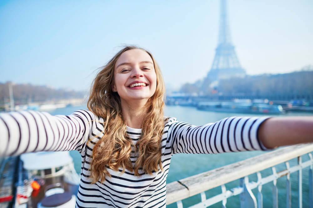 Happy French Woman