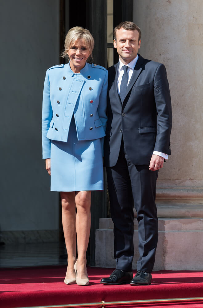 Macron and his First Lady