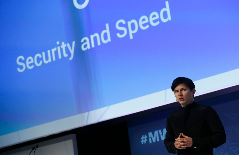 Founder-and-CEO-of-Telegram-Pavel-Durov-delivers-a-keynote-speech-during-the-Mobile-World-Congress-in-Barcelona