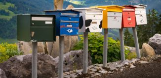Post boxes in Swiss Alps